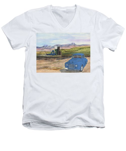 A Ford Men's V-Neck T-Shirt