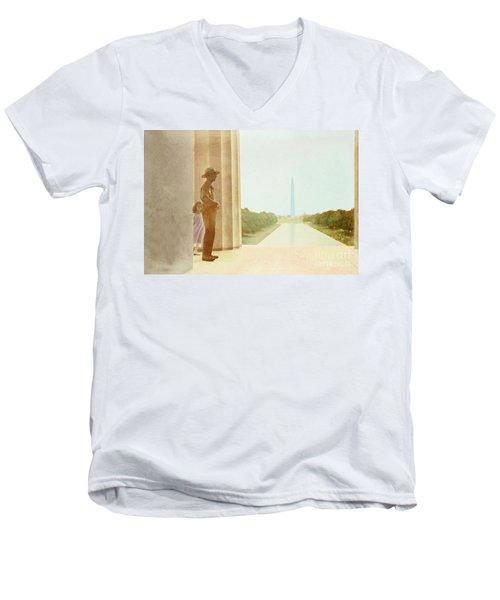 A Girl Suddenly Appears Men's V-Neck T-Shirt