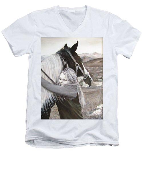 A Girls Best Friend Men's V-Neck T-Shirt
