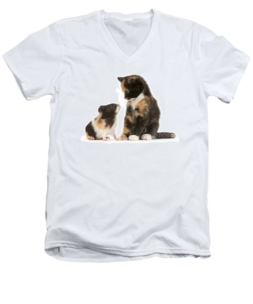 A Guinea For Your Thoughts Men's V-Neck T-Shirt