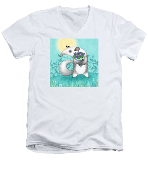 A Is For Anteater Men's V-Neck T-Shirt