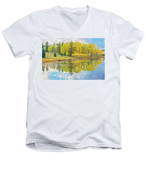 A Lakeside Willowwacks  Men's V-Neck T-Shirt by Bijan Pirnia