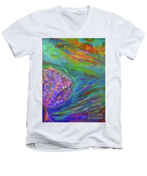 A Leap Of Faith Men's V-Neck T-Shirt