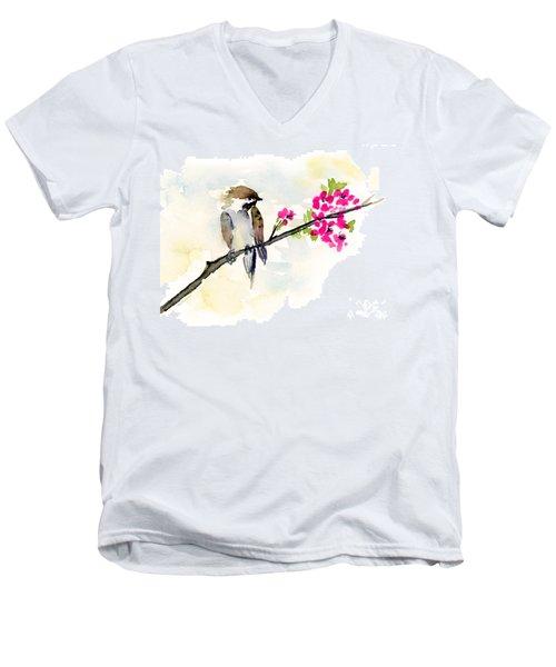 A Little Bother Men's V-Neck T-Shirt by Amy Kirkpatrick