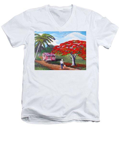 A Memorable Walk Men's V-Neck T-Shirt