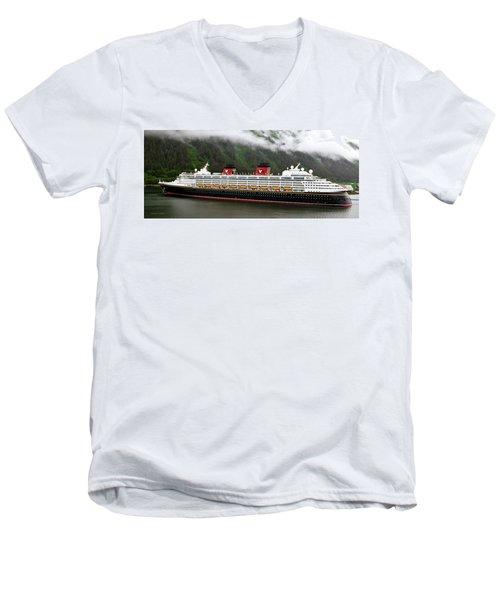 A Mickey Mouse Cruise Ship Men's V-Neck T-Shirt