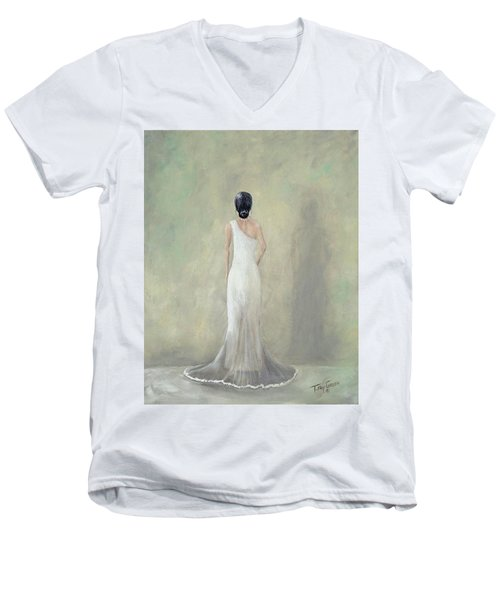 A Moment Alone Men's V-Neck T-Shirt by T Fry-Green