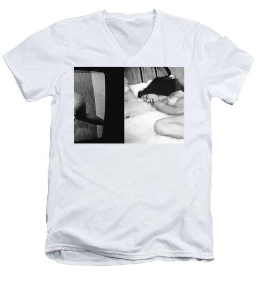 A Mystery Men's V-Neck T-Shirt by Steven Macanka