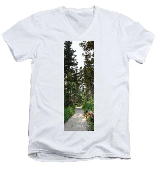 A Path Through The Trees Men's V-Neck T-Shirt