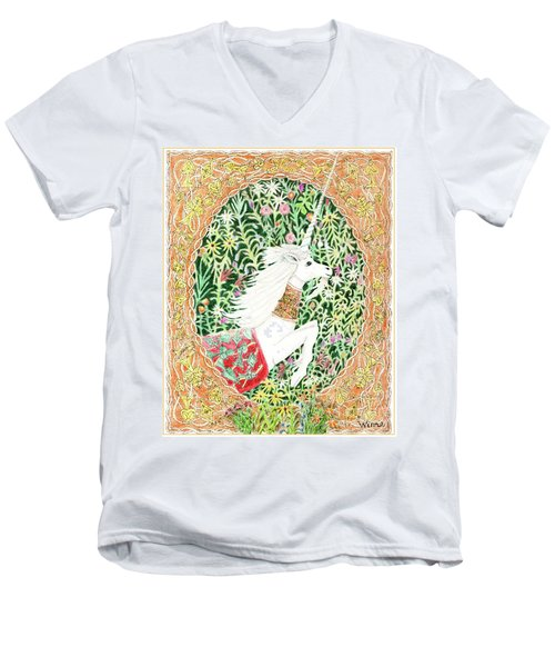 A Pawn Escapes Limited Edition Men's V-Neck T-Shirt by Lise Winne