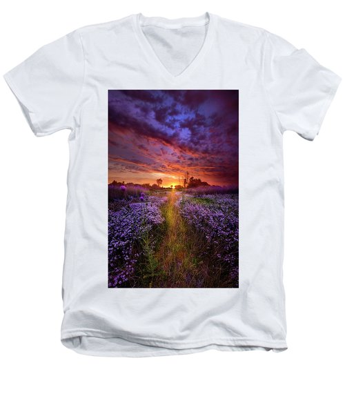 A Peaceful Proposition Men's V-Neck T-Shirt by Phil Koch
