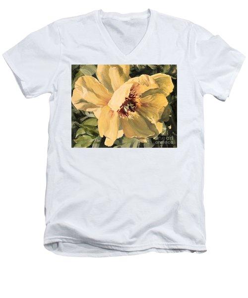 A Peony For Miggie Men's V-Neck T-Shirt