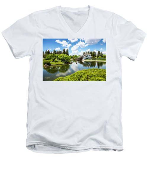 A Perfect Day In The Garden Men's V-Neck T-Shirt