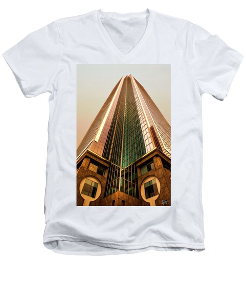 A Really Tall Building Men's V-Neck T-Shirt