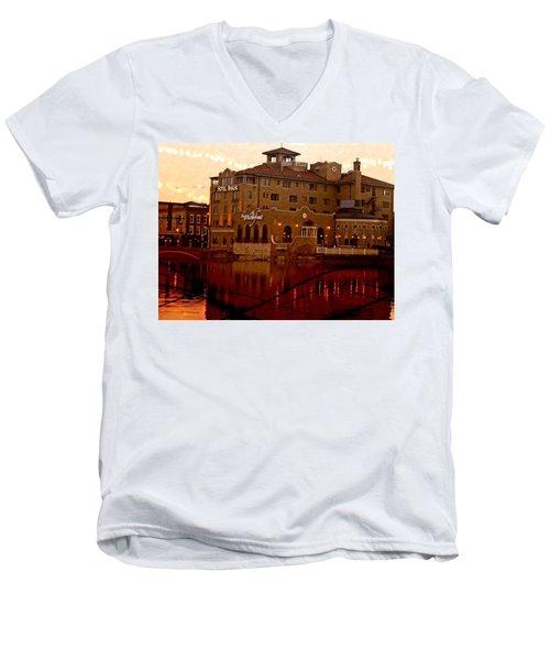 A River Of Gold Men's V-Neck T-Shirt