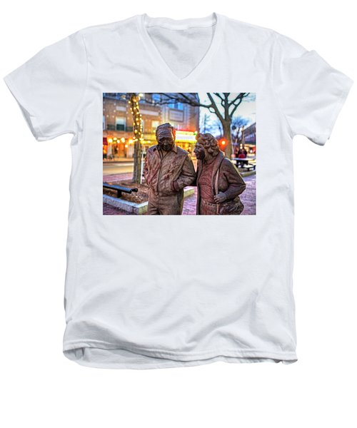 A Stroll Through Davis Square Somerville Ma Men's V-Neck T-Shirt