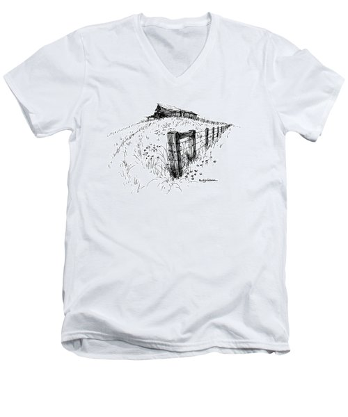 A Strong Fence And Weak Barn Men's V-Neck T-Shirt