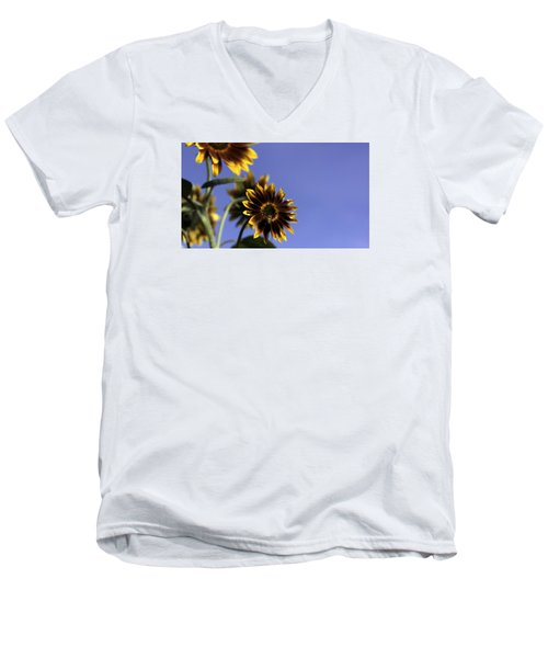 Men's V-Neck T-Shirt featuring the photograph A Summer's Day by Lora Lee Chapman