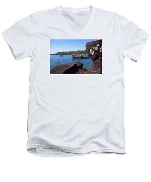 Men's V-Neck T-Shirt featuring the photograph A Superior View by Sandra Updyke