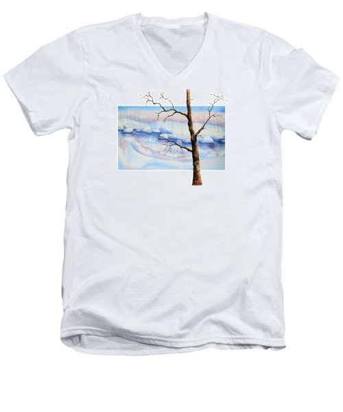 A Tree In Another Dimension Men's V-Neck T-Shirt