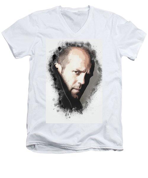 A Tribute To Jason Statham Men's V-Neck T-Shirt