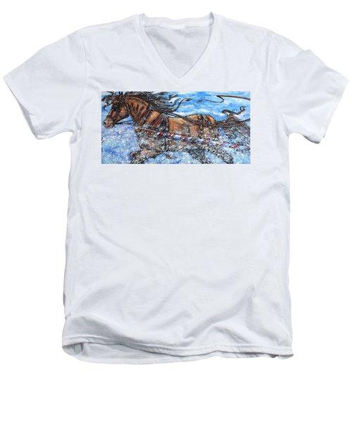 A Trip Down Memory Rein Men's V-Neck T-Shirt