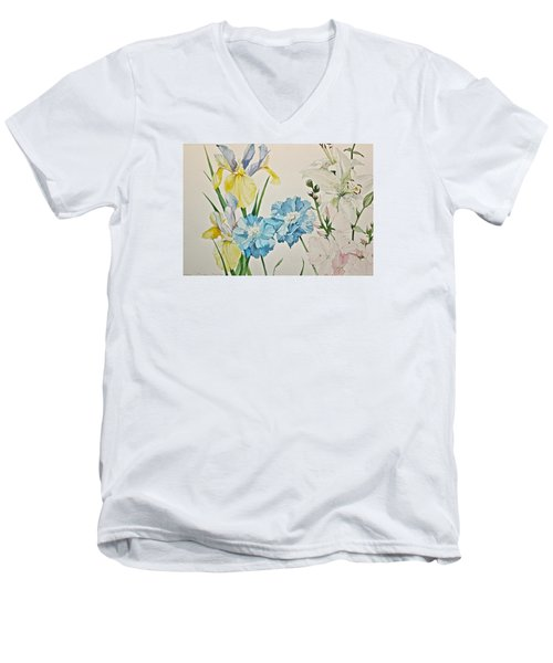 A Variety-posthumously Presented Paintings Of Sachi Spohn  Men's V-Neck T-Shirt