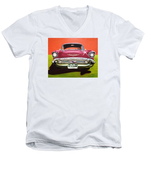 A Veteran's Ride Men's V-Neck T-Shirt