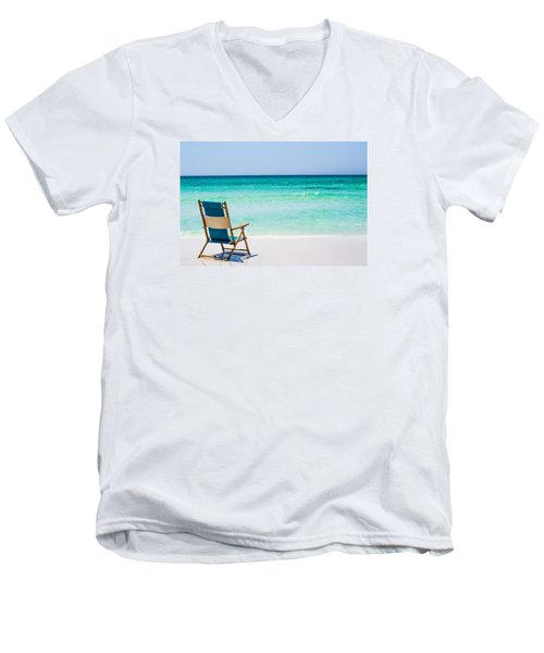 A View Of The Ocean Men's V-Neck T-Shirt by Shelby  Young