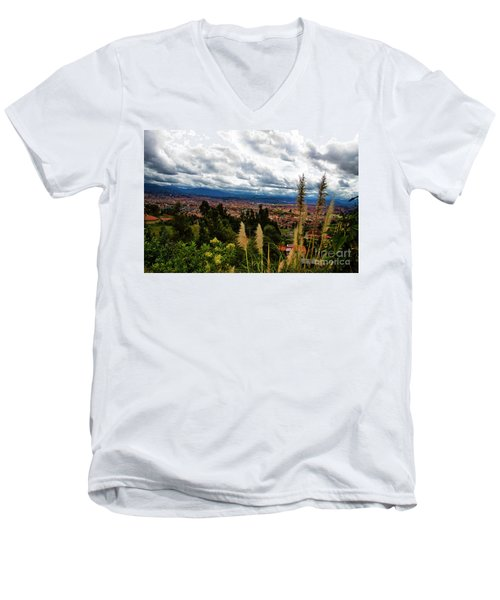 A Vista Of Cuenca From The Autopista Men's V-Neck T-Shirt