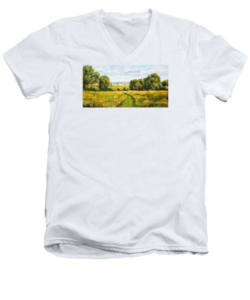 A Walk Thru The Fields Men's V-Neck T-Shirt