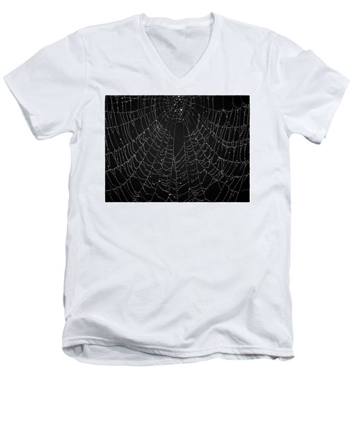 A Web Of Silver Pearls Men's V-Neck T-Shirt