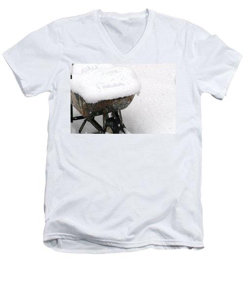 A Wheel Barrel Of Snow Men's V-Neck T-Shirt