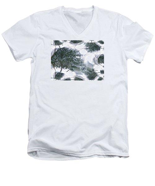 A Winter Fractal Land Men's V-Neck T-Shirt by Skyler Tipton