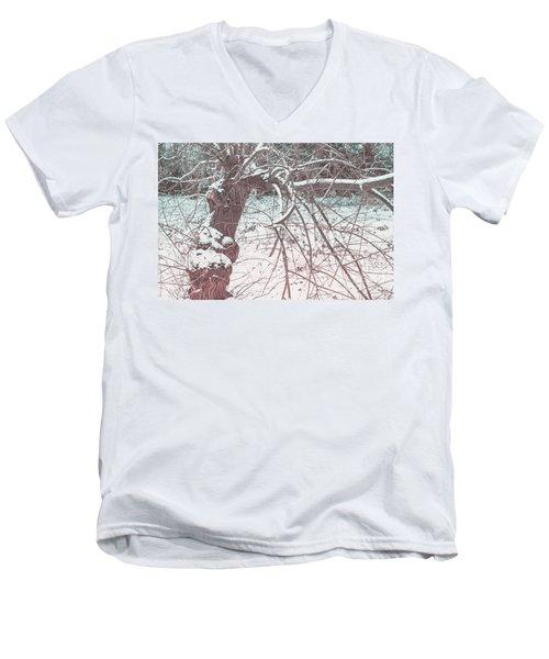 A Winter Tree Men's V-Neck T-Shirt