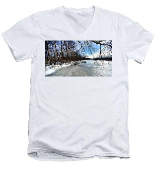 A Winters Day Men's V-Neck T-Shirt by Diane Giurco