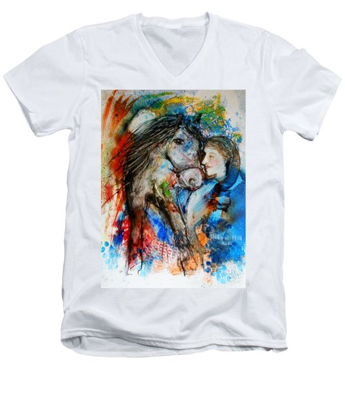 A Woman And Her Horse Men's V-Neck T-Shirt