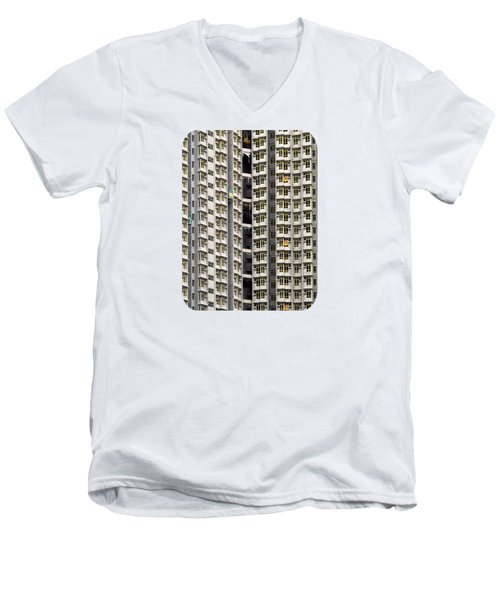 Men's V-Neck T-Shirt featuring the photograph A Work In Progress by Ethna Gillespie