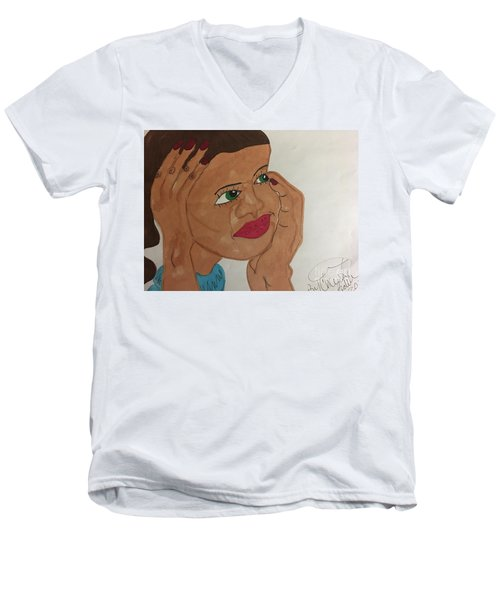 A Young Woman  Men's V-Neck T-Shirt