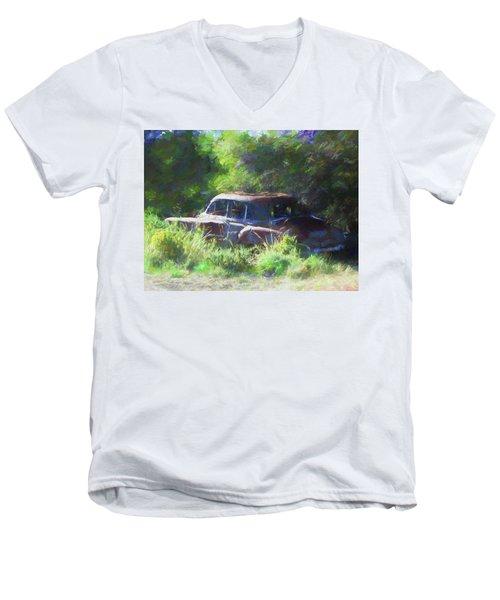 Abandoned 1950 Chevy Dop Men's V-Neck T-Shirt