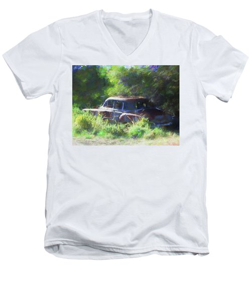 Abandoned 1950 Chevy Dop Men's V-Neck T-Shirt