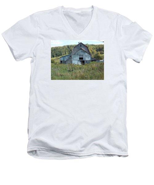Abandoned Barn Men's V-Neck T-Shirt by Catherine Gagne