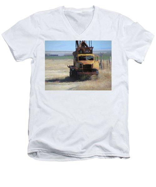 Abandoned Gmc Drill Rig Men's V-Neck T-Shirt