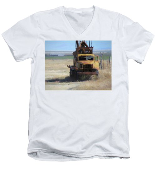 Abandoned Gmc Drill Rig Men's V-Neck T-Shirt