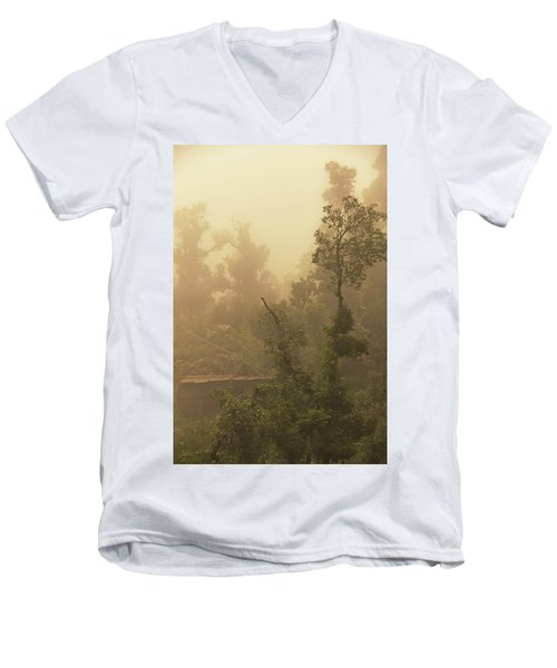 Abandoned Shed Men's V-Neck T-Shirt by Rajiv Chopra