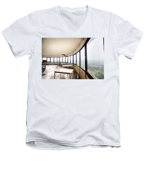 Abandoned Tower Restaurant - Urban Decay Men's V-Neck T-Shirt by Dirk Ercken