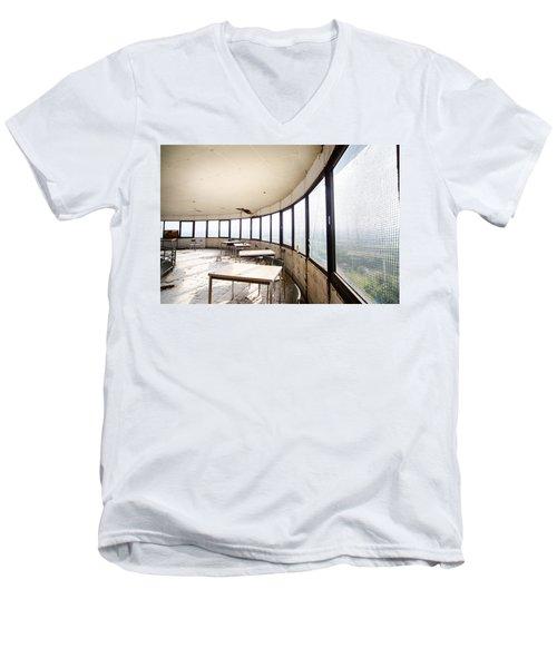 Abandoned Tower Restaurant - Urban Decay Men's V-Neck T-Shirt