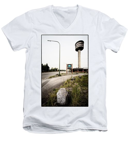 Abandoned Tower Restaurant - Urban Exploration Men's V-Neck T-Shirt by Dirk Ercken