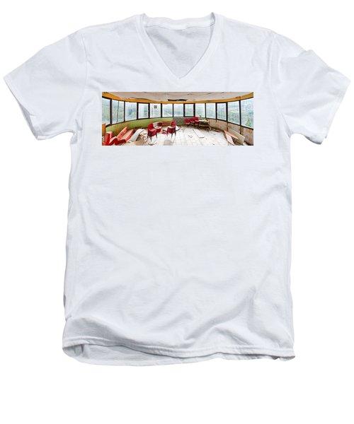 Abandoned Tower Restaurant - Urban Panorama Men's V-Neck T-Shirt