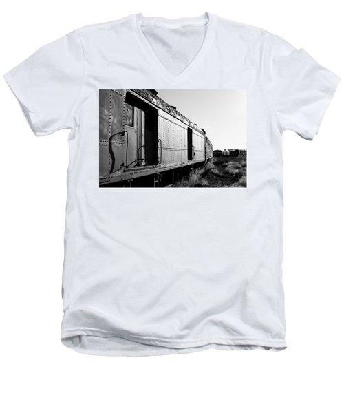 Abandoned Train Cars Men's V-Neck T-Shirt